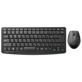エレコム ELECOM 静音ミニキーボード・静音マウス ブラック TK-FDM091SMBK [USB /ワイヤレス]【rb_ keyboard_cpn】