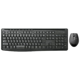 エレコム ELECOM TK-FDM092SMBK 静音無線フルキーボード・静音マウス ブラック [USB /ワイヤレス][TKFDM092SMBK]
