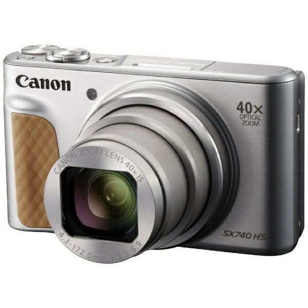 【送料無料】 キヤノン CANON 【1000円OFFクーポン 9/20 00:00〜9/20 23:59】コンパクトデジタルカメラ PowerShot(パワーショット) SX740 HS(シルバー)