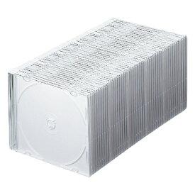 サンワサプライ SANWA SUPPLY Blu-ray/DVD/CD用スリムケース 50枚セット マットホワイト FCD-PU50MWN[FCDPU50MWN]