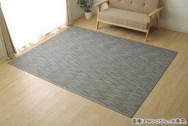 イケヒコ IKEHIKO ラグ カーペット 無地 シンプル バンブー 竹 『DXフォース』(190×250cm/グレー)