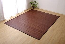 イケヒコ IKEHIKO 竹カーペット 無地 糸なしタイプ 『ユニバース』(180×220cmダークブラウン)