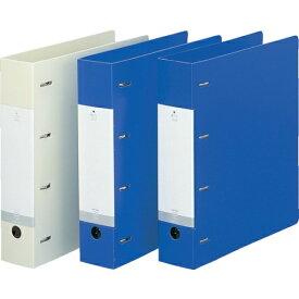 リヒトラブ リヒト A4 D型リングファイル(4穴) 青