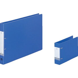 リヒトラブ LIHIT LAB. リヒト A5/E D型リングファイル(350枚) 青