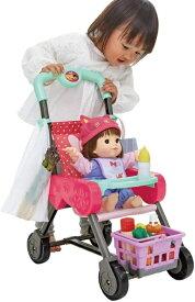 ピープル People カゴ&お世話テーブルつき ぽぽちゃんのお買いものベビーカー ラズベリーピンク