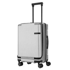 サムソナイト Samsonite スーツケース 33L Evoa(エヴォア) ブラッシュトシルバー DC0-07002 [TSAロック搭載]