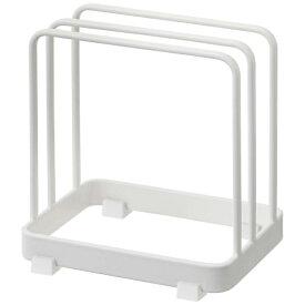 山崎実業 Yamazaki プレート まな板スタンド ホワイト(Plate Cutting Board Stand WH) 02496 ホワイト[2496]