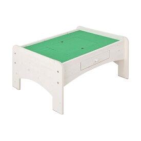 充英アート 天然木プレイテーブル (幅90×奥行71×高さ45cm) JJ-90PTW ホワイト