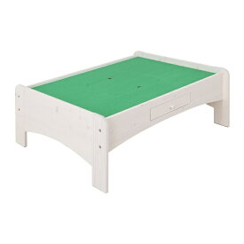 充英アート 天然木プレイテーブル (幅120×奥行91.6×高さ45cm) JJ-120PTW ホワイト