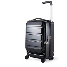 サンコー鞄 SUNCO LUGGAGE 静音大型双輪キャスター搭載 ハードスーツケース ACTIVE CUBE 03 (32L)ブラック(機内持ち込みサイズ)