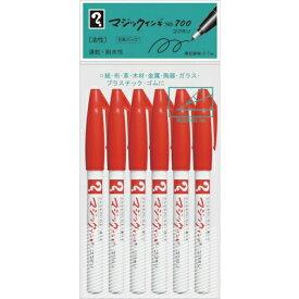 寺西化学工業 Teranishi Chemical Industry マジックインキ No.700 6本パック 赤