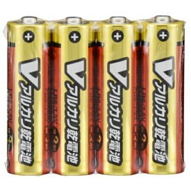オーム電機 OHM ELECTRIC LR6/S4P/V 単3電池 Vシリーズ [4本 /アルカリ][LR6S4PV]