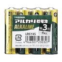 ヤザワ YAZAWA LR6Y4S 単3電池 [4本 /アルカリ]【rb_pcp】