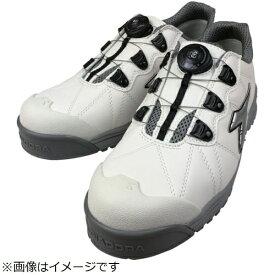 ドンケル DONKEL ディアドラ DIADORA安全作業靴 フィンチ 白/銀/白 25.0cm
