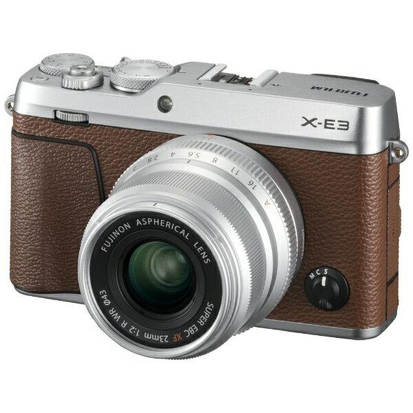 富士フイルム FUJIFILM FUJIFILM X-E3【XF23mmF2レンズキット】(ブラウン/ミラーレス一眼カメラ)