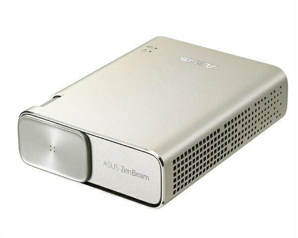 【送料無料】 ASUS エイスース ZenBeam Go E1Z LEDプロジェクター(Androidスマホ対応/i小型ミニプロジェクター/150ルーメン/6400mAhバッテリー) アイシクルゴールド