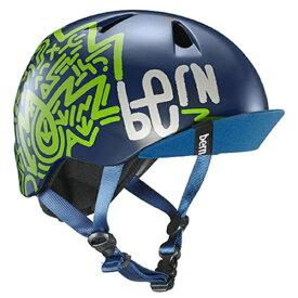 BE-VJBMNZV 子供用ヘルメット bern/NINO(S-M:51.5〜54.5cm/Matte Navy Zig-Zag) 推奨年齢3-6歳[VJBMNZV_12_18]