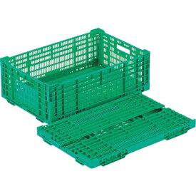 リス RISU リス RSコンテナーRS−MM38(薄型折りたたみコンテナー) 緑