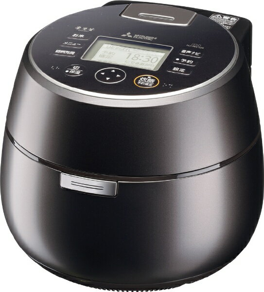 三菱 Mitsubishi Electric NJ-AW109 炊飯器 本炭釜 KAMADO 黒銀蒔(くろぎんまき) [5.5合 /IH][NJAW109]