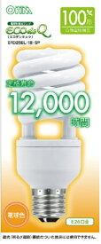オーム電機 OHM ELECTRIC EFD25EL/18-SP 電球形蛍光灯 スパイラル ECOdeQ(エコデンキュウ) ホワイト [E26 /電球色 /1個 /100W相当 /全方向タイプ]