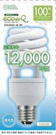 オーム電機 OHM ELECTRIC EFD25ED/18-SP 電球形蛍光灯 スパイラル ECOdeQ(エコデンキュウ) ホワイト [E26 /昼光色 /1個 /100W相当 /全方向タイプ]