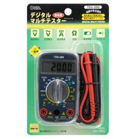 オーム電機 OHM ELECTRIC デジタルテスター TDX-200