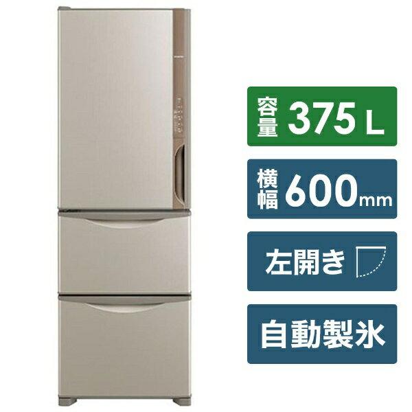 日立 HITACHI 《基本設置料金セット》R-K38JVL 冷蔵庫 Kシリーズ ライトブラウン [3ドア /左開きタイプ /375L][RK38JVL]
