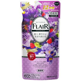 花王 Kao FLAIR FRAGRANCE(フレア フレグランス) ドレッシーベリーの香り つめかえ用 480ml 〔柔軟剤〕