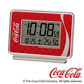 セイコー SEIKO 目覚まし時計 【コカ・コーラ】 銀色メタリック AC606R [デジタル /電波自動受信機能有]