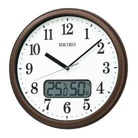 セイコー SEIKO 掛け時計 【スタンダード】 茶メタリック KX244B [電波自動受信機能有]