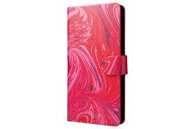 坂本ラヂヲ スマートフォン用[幅 80mm]GRAMAS FEMME Flap Leather Multi Case EveryCa Mab FLC265RD Red