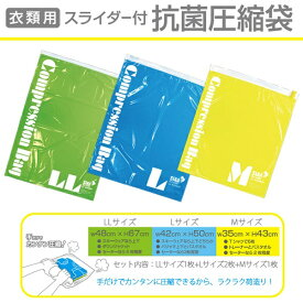 TTC 衣類用 スライダー付抗菌圧縮袋