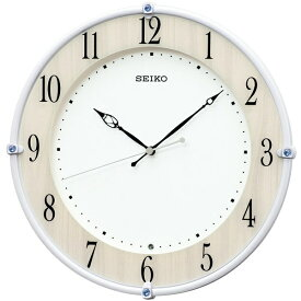 セイコー SEIKO 掛け時計 【スタンダード】 白パール KX242B [電波自動受信機能有]