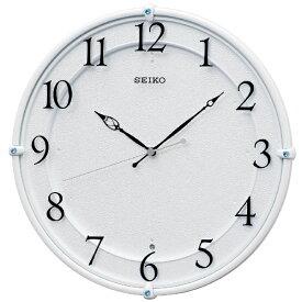 セイコー SEIKO 掛け時計 【スタンダード】 白パール KX243W [電波自動受信機能有]