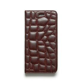 ROA ロア iPhone6 Plus Croco Quilting Diary ワイン