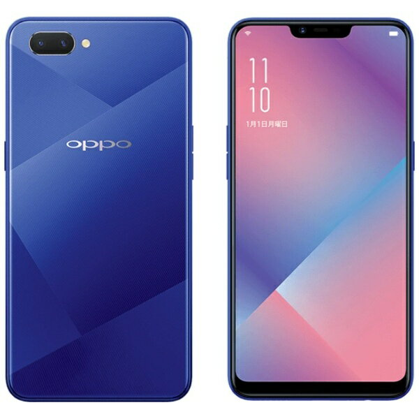 【送料無料】 OPPO OPPO R15 Neo ダイヤモンドブルー Android 8.1 6.2型 メモリ/ストレージ:4GB/64GB nanoSIM×2 SIMフリースマートフォン