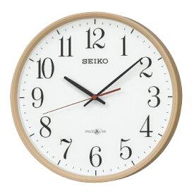 セイコー SEIKO 掛け時計 【スペースリンク(衛星電波クロック)】 薄茶木目模様 GP220A [電波自動受信機能有]
