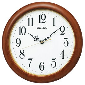 セイコー SEIKO 掛け時計 【スタンダード】 茶木地 KX246B [電波自動受信機能有]