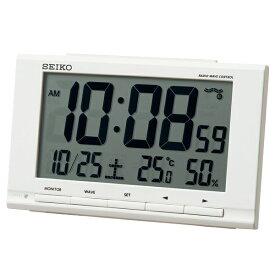 セイコー SEIKO 目覚まし時計 白 SQ789W [デジタル /電波自動受信機能有]