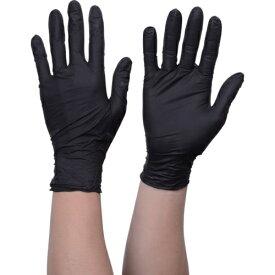 トラスコ中山 TRUSCO 使い捨てニトリル手袋TGスタンダード 0.08粉無黒L 100枚