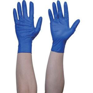 トラスコ中山 TRUSCO 10箱入り 使い捨て天然ゴム手袋TGセーフ 0.12 粉無青L