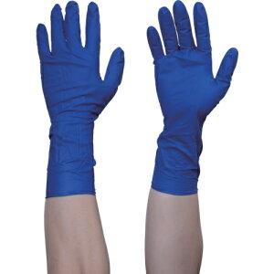 トラスコ中山 TRUSCO 使い捨て天然ゴム手袋TGプロテクト 0.20 粉無青M 50枚