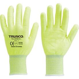 トラスコ中山 TRUSCO 耐切創手袋 レベル3 蛍光イエロー L