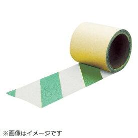 トラスコ中山 TRUSCO 蛍光ノンスリップテープ 屋外用 25mmX3m グリーン・ホワイト