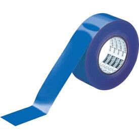 トラスコ中山 TRUSCO ラインテープ ゴミゼロタイプ 幅50mm×長さ50m ブルー