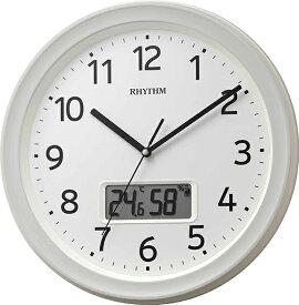 リズム時計 RHYTHM 掛け時計 【フィットウェーブリブA02】 8FYA02SR03 [電波自動受信機能有]