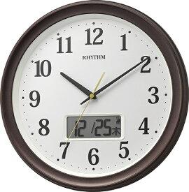リズム時計 RHYTHM 掛け時計 【フィットウェーブリブA02】 8FYA02SR06 [電波自動受信機能有]
