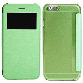 アイキューラボ iQ Labo iPhone 6s Plus/6 Plus用 小窓付き横開きケース IQ-IP6PKO-GR グリーン