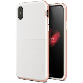 サンクチュアリ Sanctuary iPhone X用 VRS DESIGN High Pro Shield-S(ハイプロシールド-S) MIL VR_I8NCSDLH2_RG ホワイト&ローズゴールド