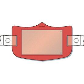つくし工房 TSUKUSHI KOBO つくし e帽章 透明ポケット付き 赤 ヘルメット用樹脂バンド付